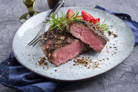 Barbecue Entrecote Steak op Plate