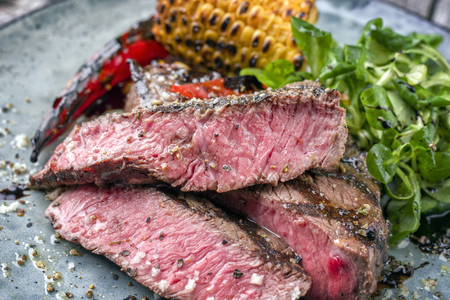 Barbecue Wagyu Point Steak with Salad and Vegetable