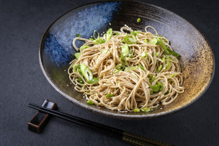 Soba Noodles in Bowl