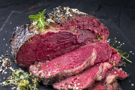 Barbecue Wagyu Rib Eye Steak Bleu