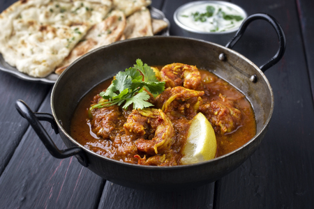 grease paint: King Prawn Masala with Chapati and Raita