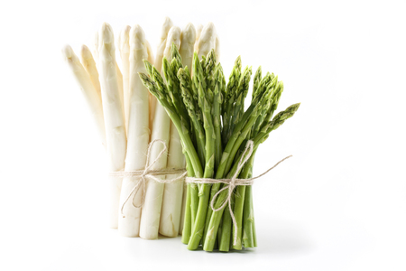 Green and White Asparagus - isolated