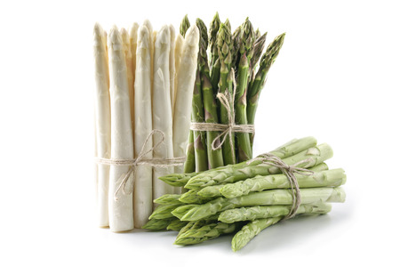 White and Green Asparagus - isolated