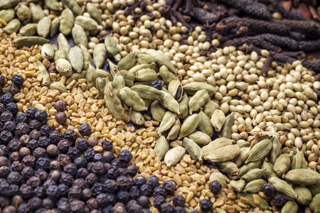 long bean: Traditional international grain and seed as spice as close-up