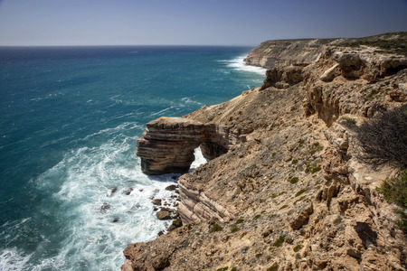 Western Australia � rocky coastline with strong surge and high cliffs