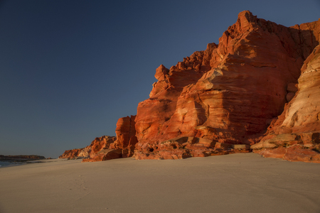 Rocky Coastline at Dampier Peninsula - Western Australia Stock Photo