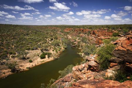 Western Australia - Outback Landscape with river depression