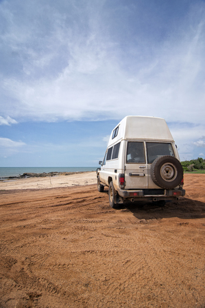washboard: Off-road vehicle at the beach