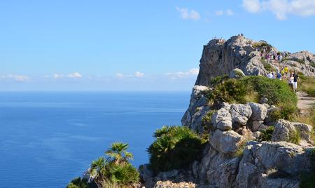 palma: Cap de Formentor coast in Mallorca, Spain (View from Mirador Es Colomer)