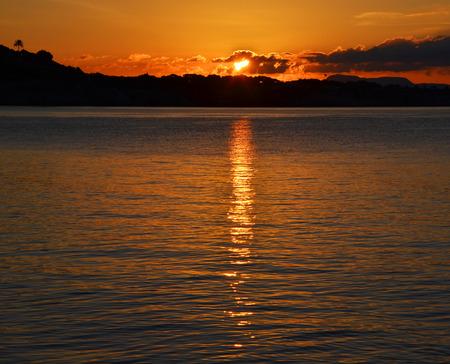 palma: Palma de Mallorca, Spain with at sunrise