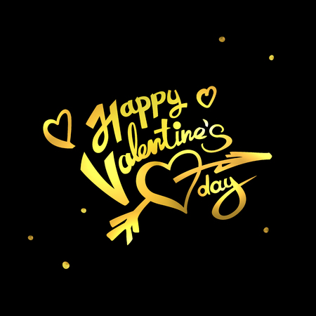 Happy Valentines Day lettering Illustration
