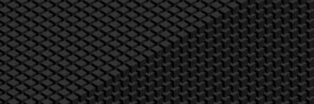 Trendy widescreen geometric background in isometric style. A wall of cubes.