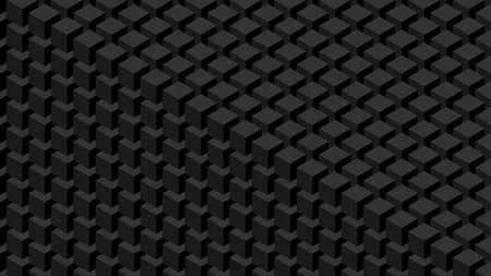 Trendy widescreen geometric background in isometric style 1920 x 1080 px. Wall of cubes. 스톡 콘텐츠