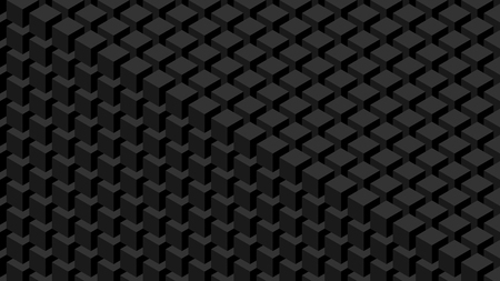 Trendy widescreen geometric background in isometric style 1920 x 1080 px. Wall of cubes.