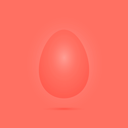 Easter egg for experiments and inspiration in coral color. Playful festive style.