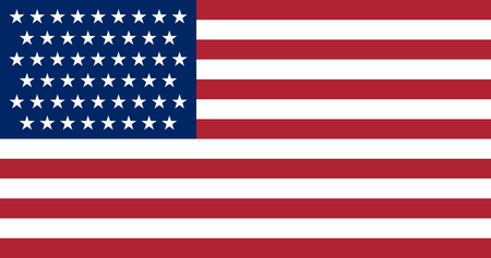 Flag of United States of America with 51st star of Puerto Rico. The US flag in as close as possible to the exact proportions, sizes and colors. Illustration