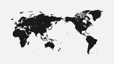 flat world map 1920 x 1080 px. for interior, design, advertising, screen saver, wallpaper, covers, walls, printing Иллюстрация