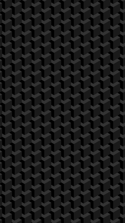 Trendy geometric background in isometric style. Wall of cubes. Vectores
