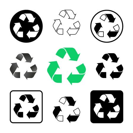 Mobius Schlaufenschild zur Kennzeichnung auf Verpackungsmaterialien in verschiedenen Ausführungen