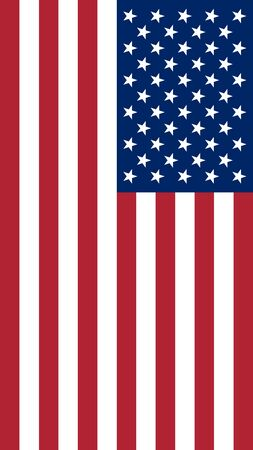 Vector illustration of the flag of the United States of America. A vertical screen saver for gadget screens on America's holidays.