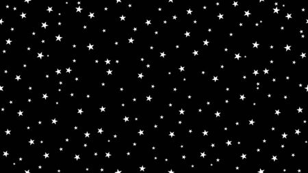 Dark Christmas starry sky background for interior, design, advertising, screensavers, wallpapers, covers, walls. Vector pattern in seamless variation.