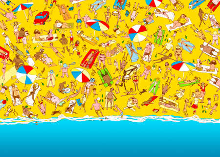 enfant maillot de bain: plage