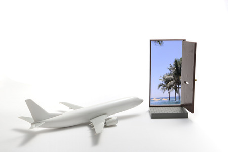 Trip by airplane to the resort.