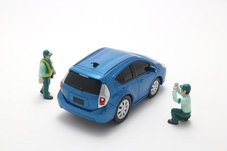 violation: Parking ban crackdown. Male police officers to crack down on car parking violation.
