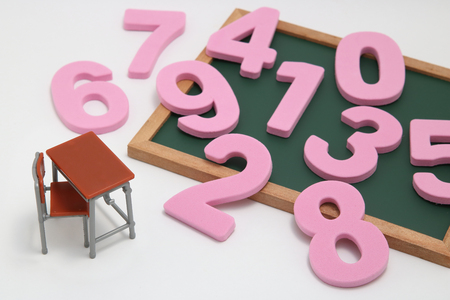 Educational concept of mathematics and arithmetic. Stock Photo