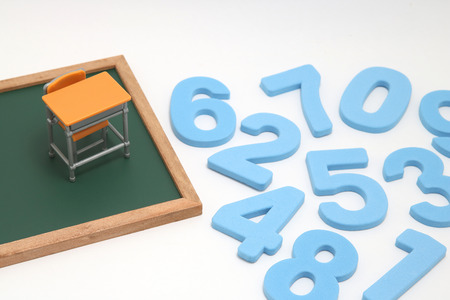 Educational concept of mathematics and arithmetic. Banque d'images