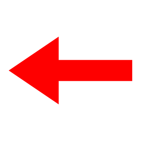Icon red arrow direction on a white background Banco de Imagens - 90104943