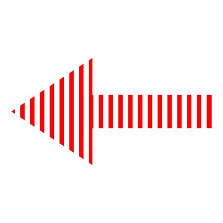 Icona freccia rossa direzione su uno sfondo bianco Archivio Fotografico - 91127606