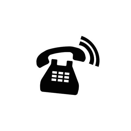 Icon of a caller old phone on a white background Illusztráció