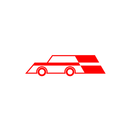 Icon of a red racing car on a white background  イラスト・ベクター素材