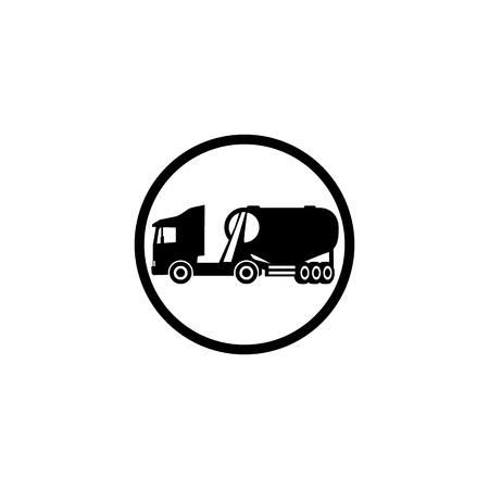 Icon cement truck silo icon on white background