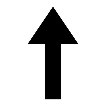 Icon black up arrow symbol on white background