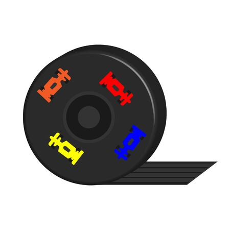 Icon wheel of a racing sports car on a white background Illustration