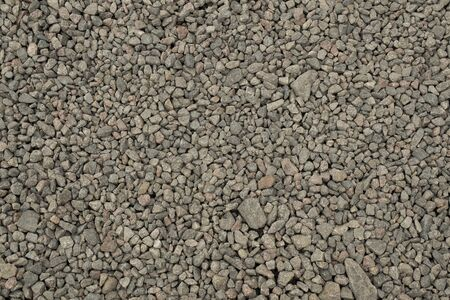 Gray crushed stone granite landscape and construction