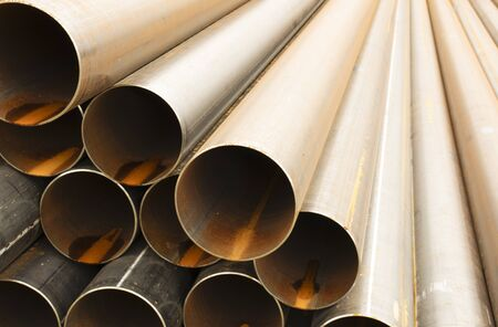 Iron building pipes for sewage and plumbing