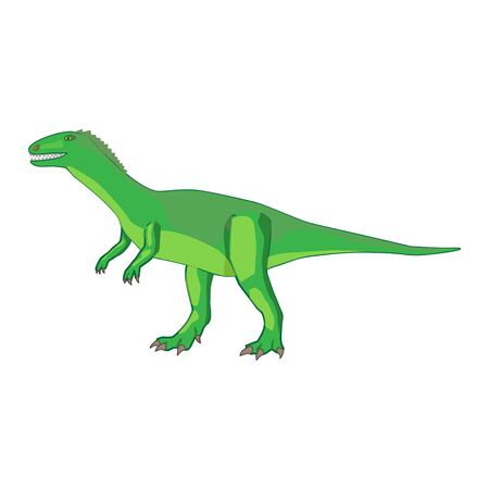 Icon dinosaur on its feet with claws on a white background Illustration