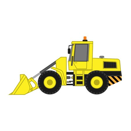 Icon of loader grader with bucket for construction and road works