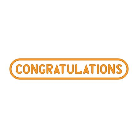 Gold lettering congratulations icon on a white background 矢量图像