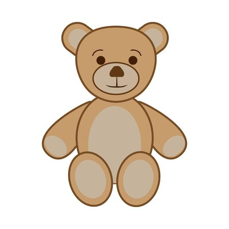 Icon children's toy teddy bear for entertainment on a white background Illustration