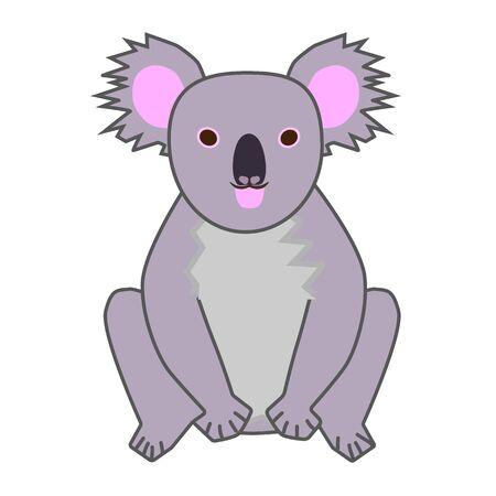 Cute koala animal icon on a white background Illustration