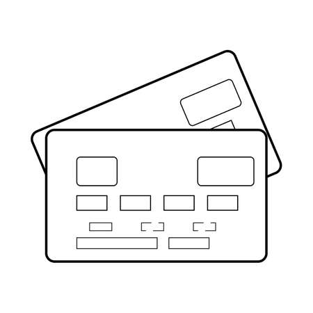 Credit card symbol icon on a white background