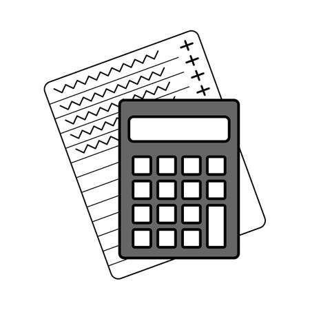 Calculator income profit icon on a white background