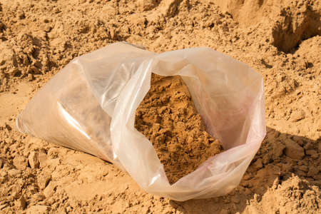 Fine sand in bags for childrens sandboxes and the beach