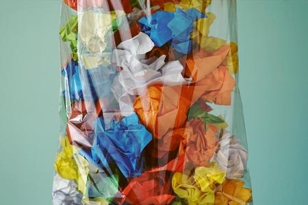 Paper trash. Sorting waste 스톡 콘텐츠