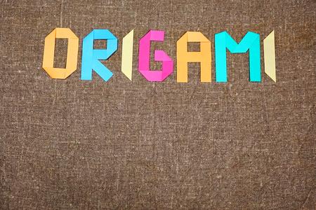 Origami background. Japanese origami