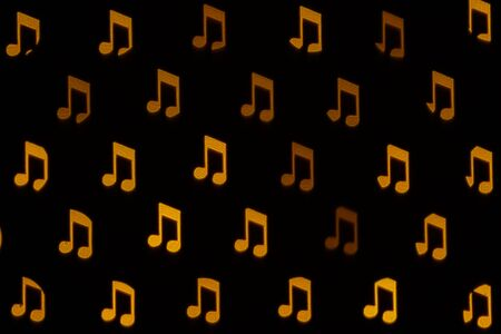 Blurred abstract musical notes. Musical background 스톡 콘텐츠